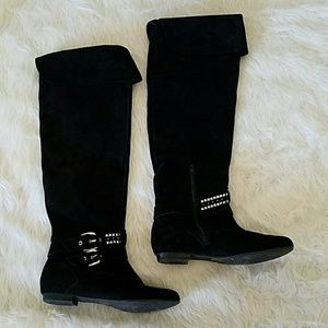 BCBGeneration Tall Black Suede Boot